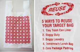 Reusing Tips: Plastic shopping bags used by Target