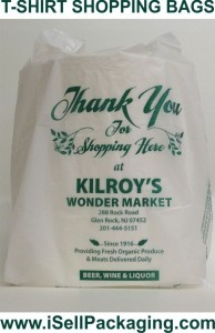 Custom printed plastic shopping bags for Kilroys