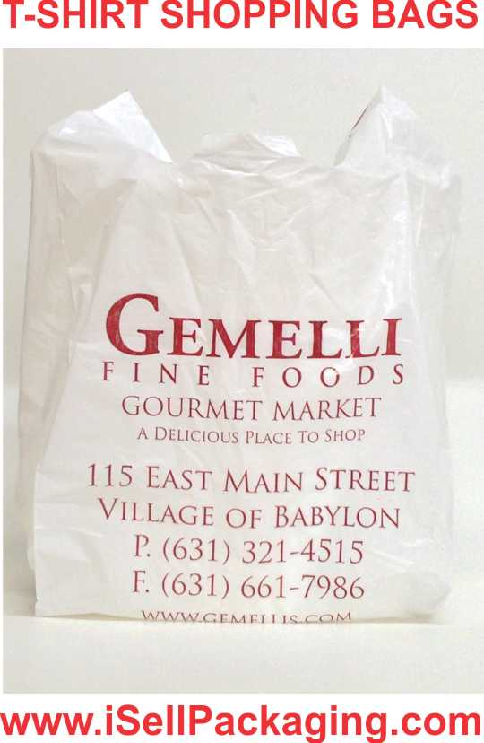 T-shirt Bags, Plastic Shopping & Grocery Bags for Gemelli