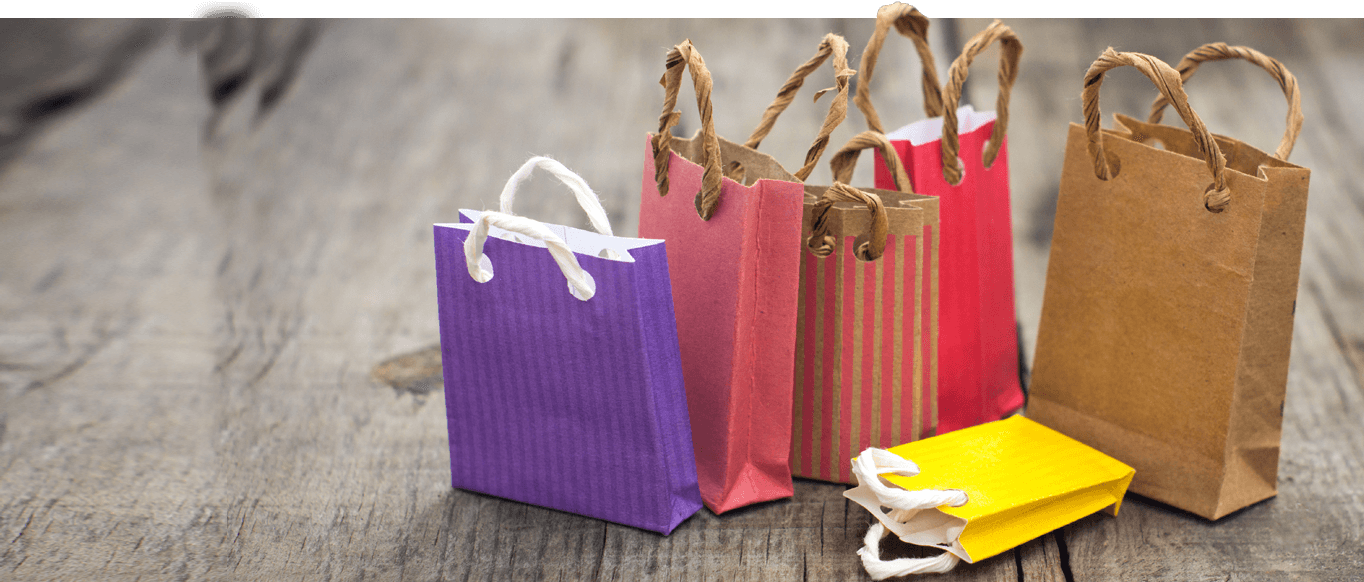 Craft paper shopping bags