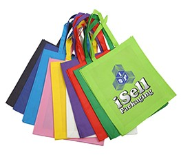 Custom Printed Reusable Non Woven Tote and Wine Bottle Bags
